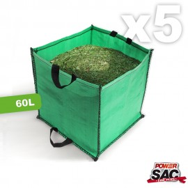 Lot de 5 Power Sacs de jardin Médium 60L