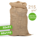 Sac en jute 215 g/m² Contact Alimentaire